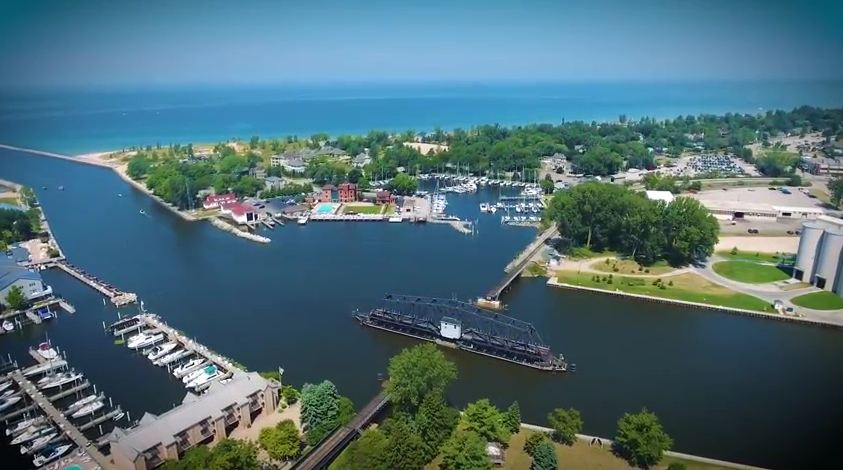 Aerial Views of Pier 33 Saint Joseph