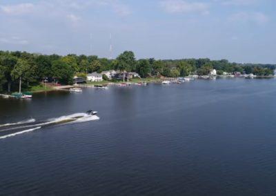 Wakeboarding flips and tricks on Winona Lake, Indiana